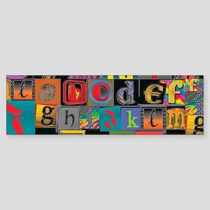 ABCDEFG Bumper Sticker