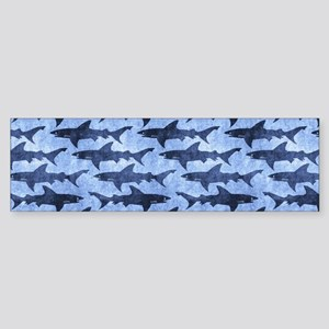 Sharks in the Blue Sea Bumper Sticker