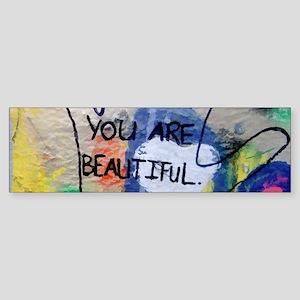 You Are Beautiful Graffiti Bumper Sticker
