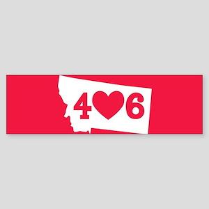 Oregon 406 Red Sticker (Bumper)