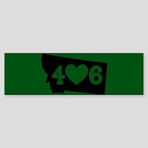 Oregon 406 Green Sticker (Bumper)
