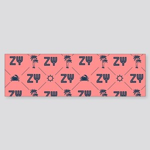 Zeta Psi Pattern Bumper Sticker