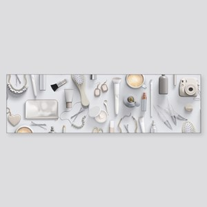 White Vanity Table Sticker (Bumper)