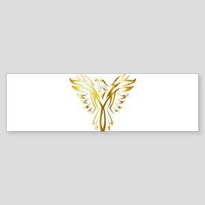 Phoenix Bird Gold Bumper Sticker
