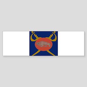 Buffalo Soldier Badge Bumper Sticker