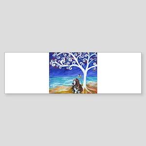 Basset Hound Spiritual Tree Bumper Sticker