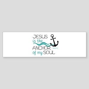 Jesus is the Anchor Sticker (Bumper)