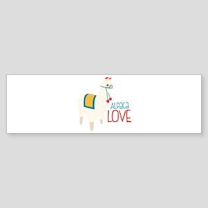 Alpaca Love Bumper Sticker