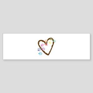 paw hearts Bumper Sticker