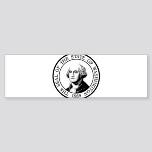 Washington State Black Sticker (Bumper)