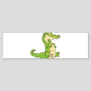 Thinking Crocodile Bumper Sticker