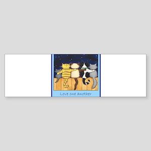 3-loveoneanotherteeshirt Bumper Sticker