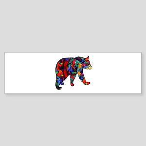 BEAR PAINTED Bumper Sticker