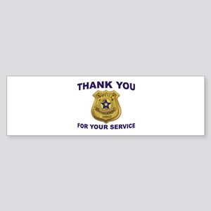Police Thanks Bumper Sticker