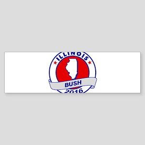 Illinois Jeb Bush 2016 Bumper Sticker