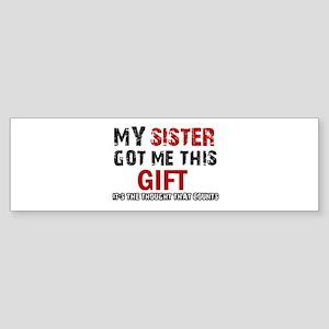 Cool Sister Designs Sticker (Bumper)