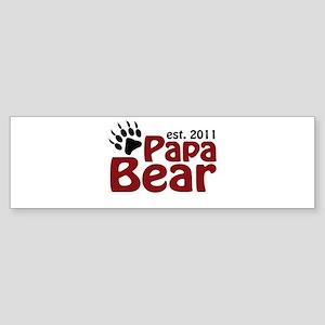 Papa Bear Est 2011 Sticker (Bumper)