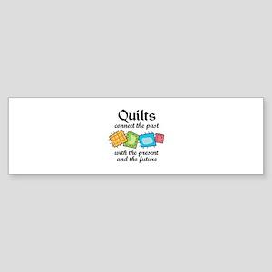 QUILTS CONNECT Bumper Sticker