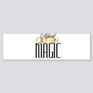 Black Queen Magic Bumper Sticker
