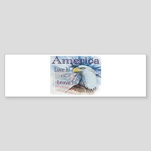 America Love It or Leave It Bumper Sticker