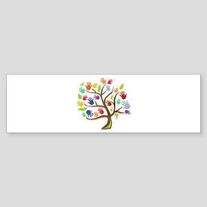 Tree Of Hands Bumper Sticker