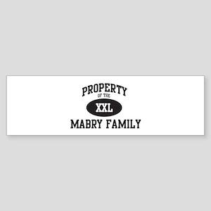 Property of Mabry Family Bumper Sticker