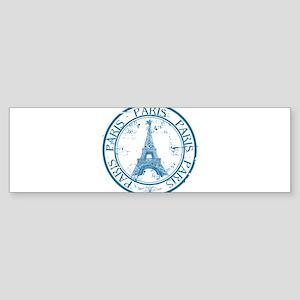 Paris travel stamp Bumper Sticker