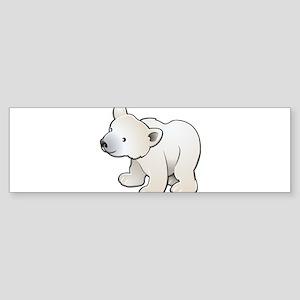 Gray Baby Polar Bear Bumper Sticker
