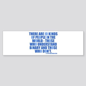 10 Kinds of People Bumper Sticker