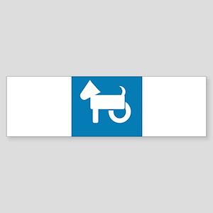 Wheelchair Dog Bumper Sticker