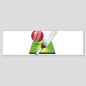 Cricket pitch bat ball Bumper Sticker
