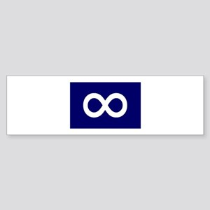 Metis Flag Bumper Sticker