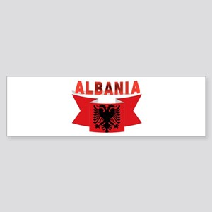 flag Albania Ribbon Bumper Sticker