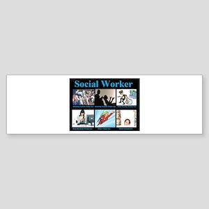 Social Worker Job Sticker (Bumper)