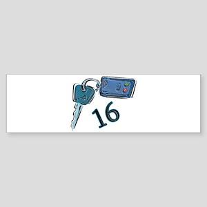 16th Birthday keys Bumper Sticker