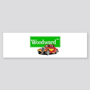Woodward Red Hotrod Sticker (Bumper)