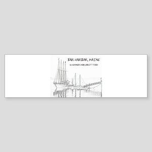 Bar Harbor Schooner Bumper Sticker
