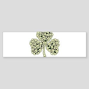Shamrock Skulls St Patricks Day Bumper Sticker