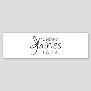 I believe in fairies Sticker (Bumper)