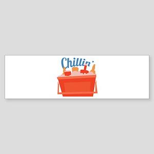 Chillin Ice Chest Bumper Sticker