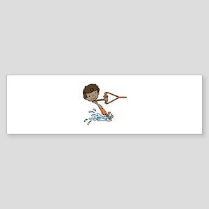 Barefoot Ski Boy Bumper Sticker