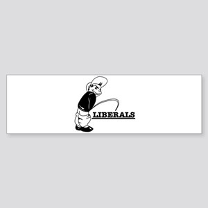Piss on Liberals Bumper Sticker