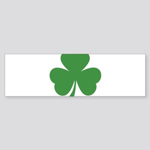 green shamrock irish Bumper Sticker