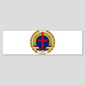Emblem of Christian Socialism Bumper Sticker