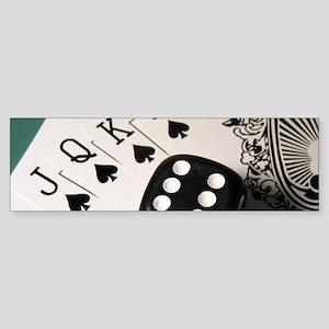 Cards And Dice Bumper Sticker