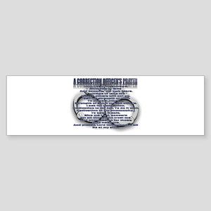 CORRECTION'S OFFICER PRAYER Bumper Sticker