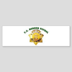 Border Patrol Badge Bumper Sticker