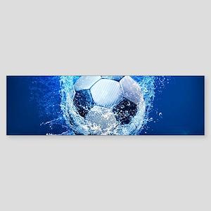 Ball Splash Over Stadium Bumper Sticker