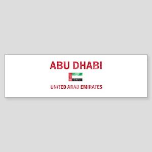 Abu Dhabi United Arab Emirates Designs Sticker (Bu