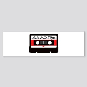 80s Music Mix Tape Cassette Sticker (Bumper)